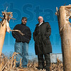 Tribune-Star file/Joseph C. Garza<br /> The effect on agriculture: Indiana State retired professor Bill Dando, right, and his associate, V.J. Lulla, have studied the effect climate change will have on the agriculture in the Wabash Valley. Dando and Lulla think the area will be modestly impacted with most change occurring in polar areas.