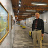 Tribune-Star/Jim Avelis<br /> Hallmark: Steve Letsinger in one of the Moench Hall hallways on the Rose-Hulman campus. Letsinger is curator of the school's art collection which includes hundreds of pieces by Salty Seamon.