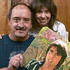 Tribune-Star/Joseph C. Garza<br /> They will miss him: Davy Jones fans George Rusin and Melody House have followed the singer since his popularity in the 1960s. Here, they pose with one of Jones' solo albums Wednesday at Rusin's home.
