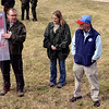 Tribune-Star/Joseph C. Garza<br /> Where it is in the HRI: Tom Swinford, an ecologist in the Indiana Department of Natural Resources Nature Preserves, uses a map to show students from Turkey Run High School and Elementary School where the Sugar Creek Corridor is in the Healthy Rivers Initiative Wednesday in Parke County.