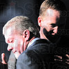 Indianapolis Colts owner Jim Irsay, left, hugs quarterback Peyton Manning after announcing that the NFL football team will release Manning during a news conference in Indianapolis, Wednesday, March 7, 2012 (AP Photo/AJ Mast)