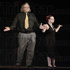 Tribune-Star/Jim Avelis<br /> Tah dah!: Noel Harden with her father Rich danced a Rumba for the crowd at the Celebrating Exceptionalities in the Arts presentation Monday night