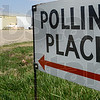 Tribune-Star/Jim Avelis<br /> Room for more: The parking lot outside the polling place in Redmon Illinois shows plenty of space for more voters for Buck and Embarrass townships early Tuesday afternoon.