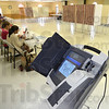 Tribune-Star/Jim Avelis<br /> Slow day: The four precincts in St. Mary's Church in Marshall had only seen about 250 primary election voters through their doors as of 1:00p.m. Tuesday.