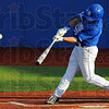 Tribune-Star/Jim Avelis<br /> Rap: Kyle Burnam gets a hit to right field in second inning action against the Illinois-Springfield Prairie Stars Tuesday evening at Bob Warn Field.