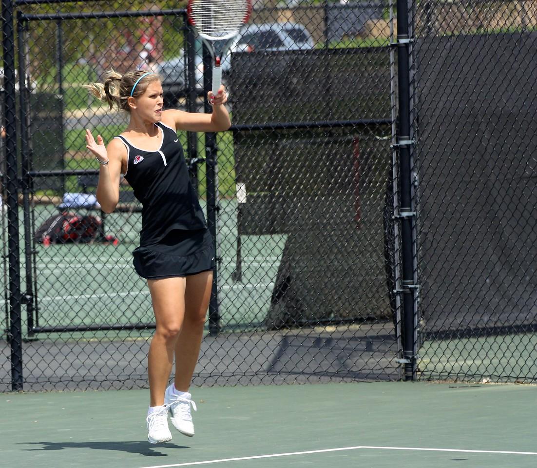 Ioana Oprea during Sunday's 7-0 win over Western Carolina