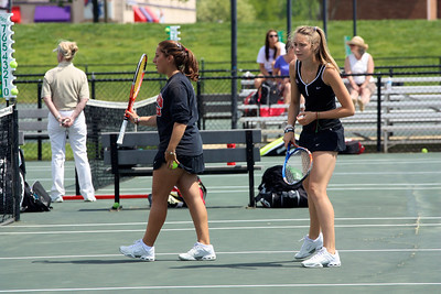 Yasmin Doost and Alice Hopkins during Sunday's 7-0 win over Western Carolina