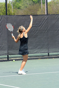Ioana Oprea during Sunday's 7-0 win over Western Carolina