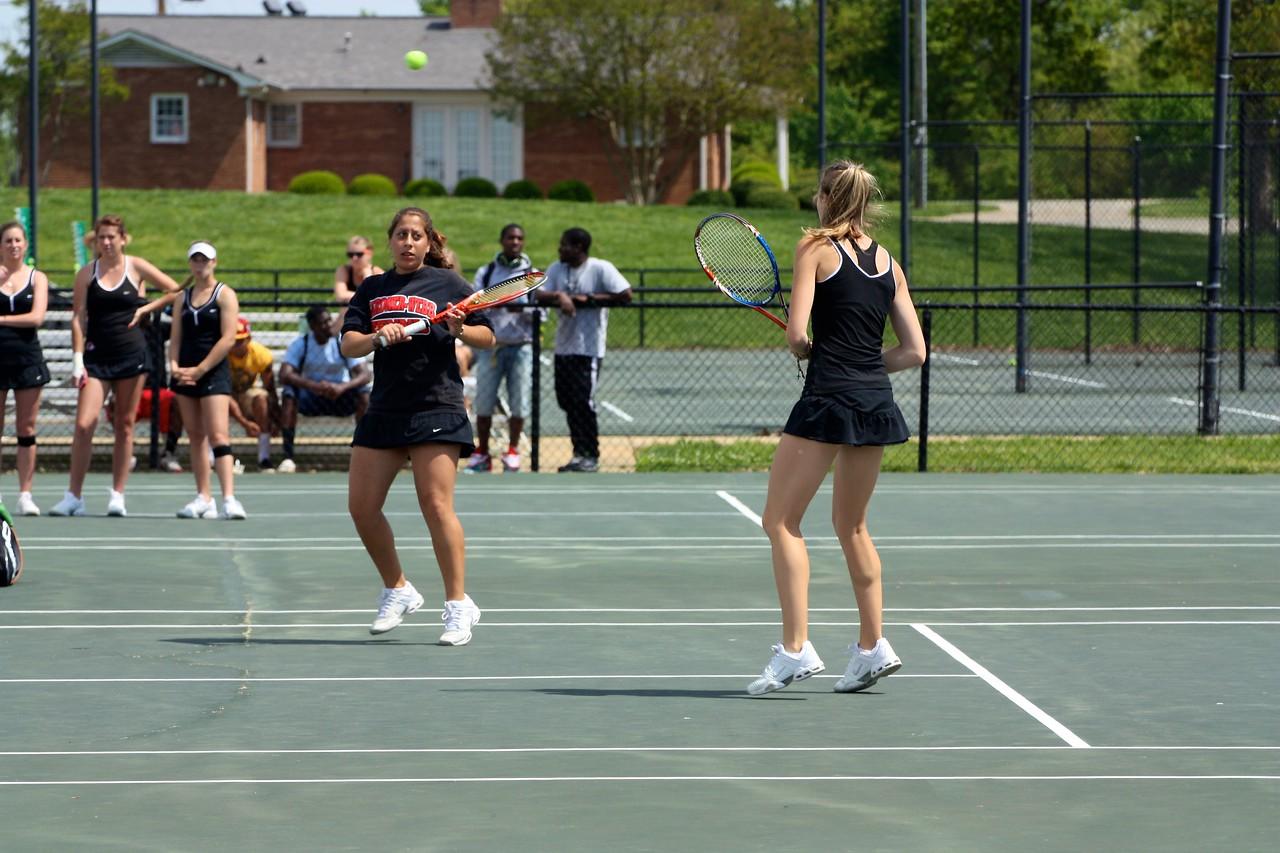 Yasmin Doost and Alice Hopkins during Sunday's 7-0 win over Western Carolina