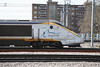 21 March 2012 :: Showing off the new logo, Eurostar 373001 arriving at St Pancras