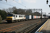 21 March 2012 :: 90048 passes South Kenton with 4M87 Felixstowe to Trafford Park