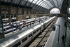 21 March 2012 :: The cross paltform footbridge at King's Cross has been replaced giving a panoramic view toward the terminus' buffer stops