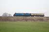 """22 March 2012 :: LNER A4 4464 """"Bittern"""" near Uffington while working 5Z46, Southall to Kidderminster"""