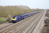 22 March 2012 :: Running on the Relief line at Denchworth an HST heads for Paddington