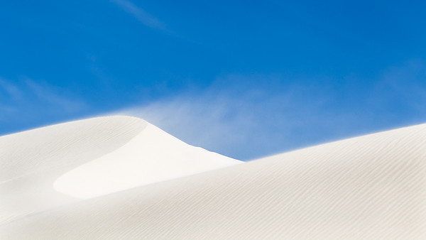 White Dunes in the Wind