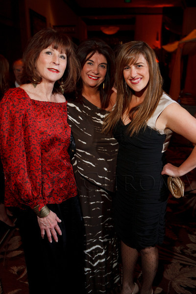 Nancy Sagar, Terry Vitale, and Piper Vitale.  The ICON Awards Gala 2012, presented by Colorado Expression and Confetti magazines, at Grand Hyatt Denver near Denver, Colorado, on Friday, March 9, 2012.<br /> Photo Steve Peterson