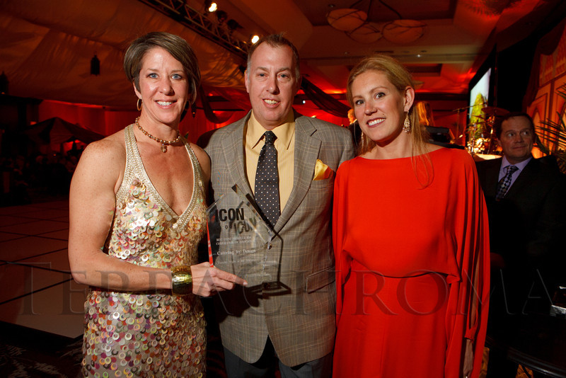 Catering by Design:  Ingrid and Cade Nagy with Deirdre Toltz.  The ICON Awards Gala 2012, presented by Colorado Expression and Confetti magazines, at Grand Hyatt Denver near Denver, Colorado, on Friday, March 9, 2012.<br /> Photo Steve Peterson