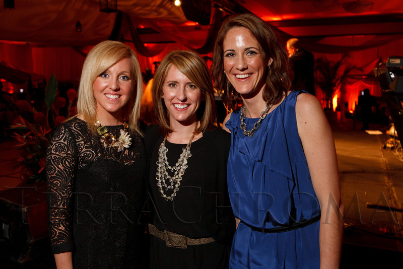 The Workshop event company:  Kelsey Kay, Danielle Mason, and Heidi Brown.  The ICON Awards Gala 2012, presented by Colorado Expression and Confetti magazines, at Grand Hyatt Denver near Denver, Colorado, on Friday, March 9, 2012.<br /> Photo Steve Peterson