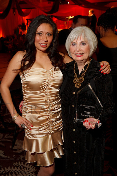 Tabitha Hernandez and Walli Richardson (Lifetime Achievement Award).  The ICON Awards Gala 2012, presented by Colorado Expression and Confetti magazines, at Grand Hyatt Denver near Denver, Colorado, on Friday, March 9, 2012.<br /> Photo Steve Peterson