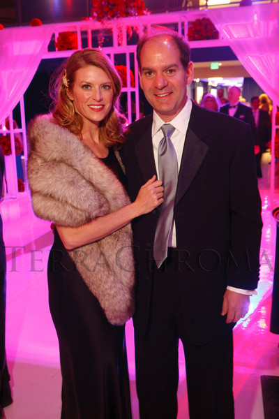 Maureen and John Kechriotis.  The Beaux Arts Ball, benefiting National Jewish Health, at Wings Over the Rockies Air & Space Museum in Denver, Colorado, on Saturday, March 10, 2012.<br /> Photo Steve Peterson