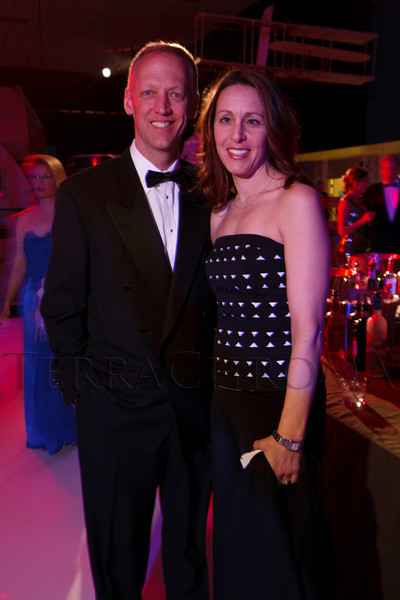 Frank and Lara Knuettel.  The Beaux Arts Ball, benefiting National Jewish Health, at Wings Over the Rockies Air & Space Museum in Denver, Colorado, on Saturday, March 10, 2012.<br /> Photo Steve Peterson