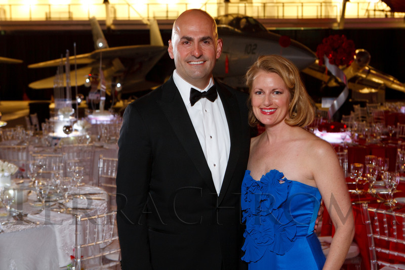 Hassan and Sheila Salem.  The Beaux Arts Ball, benefiting National Jewish Health, at Wings Over the Rockies Air & Space Museum in Denver, Colorado, on Saturday, March 10, 2012.<br /> Photo Steve Peterson