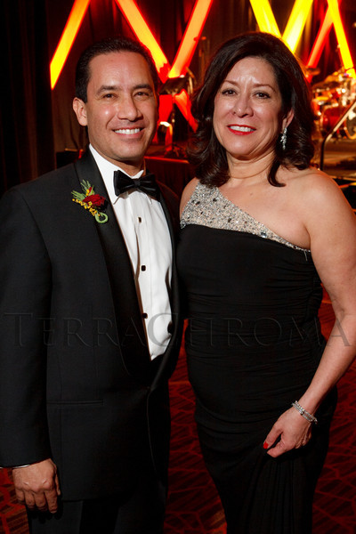 Jim Chavez and Pat Cortez.  The LAEF Annual Gala, benefiting the Latin American Educational Foundation, at Sheraton Denver Downtown Hotel in Denver, Colorado, on Saturday, March 10, 2012.<br /> Photo Steve Peterson