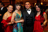 Erika Reyes, Lorena Maldonado, Danny Martinez, and Nicole Trujillo.  The LAEF Annual Gala, benefiting the Latin American Educational Foundation, at Sheraton Denver Downtown Hotel in Denver, Colorado, on Saturday, March 10, 2012.<br /> Photo Steve Peterson
