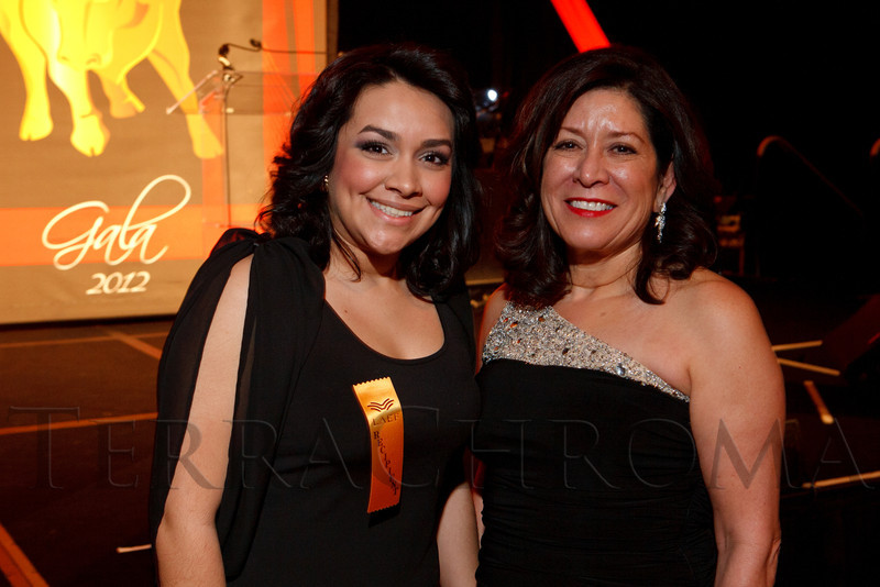 Karla Gutierrez and Pat Cortez (board of directors president).  The LAEF Annual Gala, benefiting the Latin American Educational Foundation, at Sheraton Denver Downtown Hotel in Denver, Colorado, on Saturday, March 10, 2012.<br /> Photo Steve Peterson