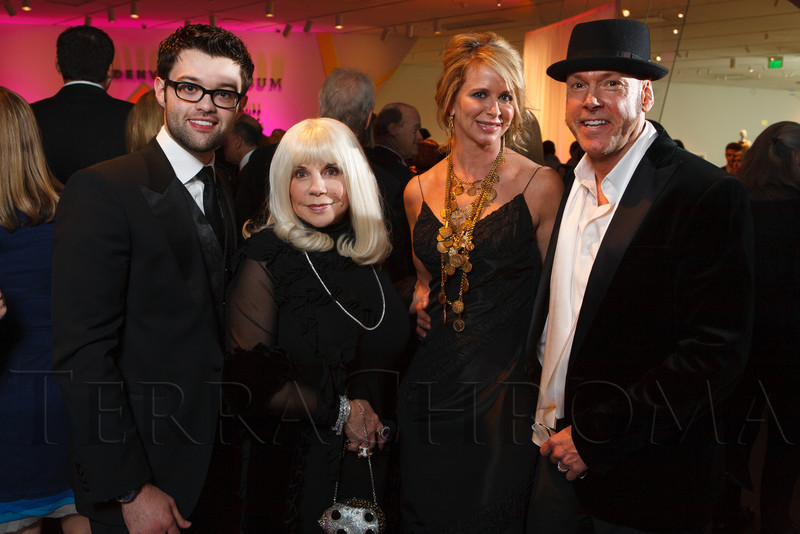 Mr. Eamonn, Elizabeth Travis, Andi Leahey (in a YSL necklace), and Dan Sharp.<br /> Photo Steve Peterson