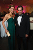 Alessandra (in YSL gown, necklace, and clutch) and Ben Schulein.<br /> Photo Steve Peterson