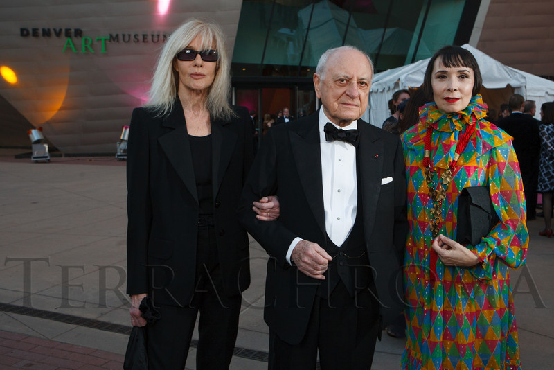 Betty Catroux, Pierre Bergé, and Florence Müller.<br /> Photo Steve Peterson