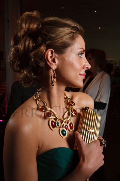 Alessandra Schulein (in YSL gown, necklace, and clutch).<br /> Photo Steve Peterson