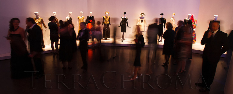 Guests get a first look at the YSL exhibit.<br /> Photo Steve Peterson