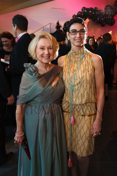 Barbara Knight and her daughter, Heather, in a Bob Mackie outfit.<br /> Photo Steve Peterson