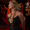 Andi Leahey in a YSL necklace from Dan Sharp Luxury Outerwear.<br /> Photo Steve Peterson
