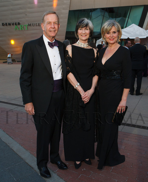 Dick and Cathey Finlon with Christel Dikeman.<br /> Photo Steve Peterson