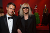 Philippe Mugnier and Betty Catroux tour the YSL exhibit.<br /> Photo Steve Peterson