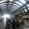 Milano Centrale station, with a Trenitalia high speed train visible.
