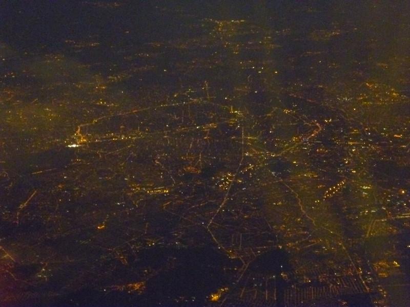 Paris seen from the air.