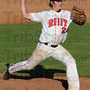 Tribune-Star/Jim Avelis<br /> Starter: Ben Menich started the game on the mound for Rose-Hulman in their opening game of the HCAC conference tournament with Manchester College.