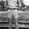 Photo courtesy of Sonner Faught<br /> Days of service: Sonner Faught believes he posed for this photo in 1943 near the train station in Sullivan.