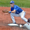 Tribune-Star/Joseph C. Garza<br /> Ready to make that tag: Indiana State's Tyler Wampler anticipates the throw as Missouri State's Kevin Medrano slides into second base during the Sycamores' 5-0 loss Saturday at Sycamore Stadium.