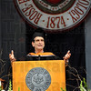 Speaker: Dean Kamen gives the commencement address to graduating Rose-Hulman students Saturday morning.