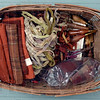 Tribune-Star/Joseph C. Garza<br /> The tools to craft the art: Some of Marilyn Oehler's raw materials and tools she uses to make her rugs.