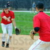 Tribune-Star/Jim Avelis<br /> Turning two: Will Burchette practices starting a double play with Rose-Hulman second baseman Andrew Benitez during practice Wednesday.