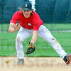 Tribune-Star/Jim Avelis<br /> Sure hands: Rose-Hulman shortstop Will Burchette fields ground balls during practice Wednesday.