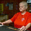 Tribune-Star/Joseph C. Garza<br /> For a local hero: Brazil Moose Lodge bartender Linda Wright talks Wednesday about how the leaders of the Lodge decided to lower the flag in front of the establishment to honor the late U.S. Army Spc. Arronn Fields of Knightsville.