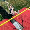 Tribune-Star/Joseph C. Garza<br /> State bound bend: Terre Haute North pole vaulter Rachel Gutish bends her pole as she begins her ascent over the bar during practice Friday at North.