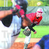Pitch: South's #5, Jacob Johnson throws a pitch to the plate during game action against Mount Vernon Saturday evening.
